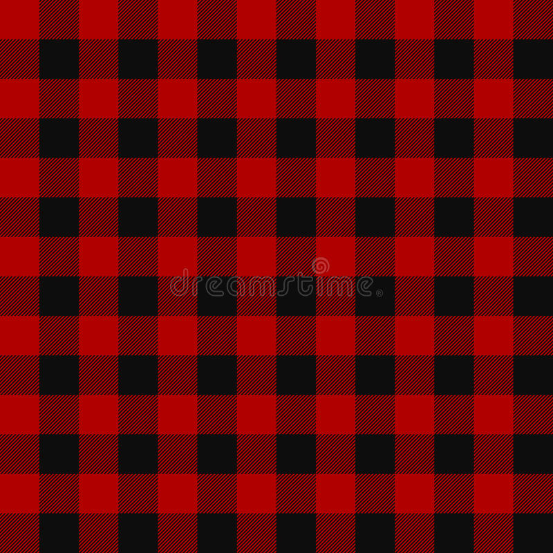 Картина шотландки Lumberjack безшовная иллюстрация вектора