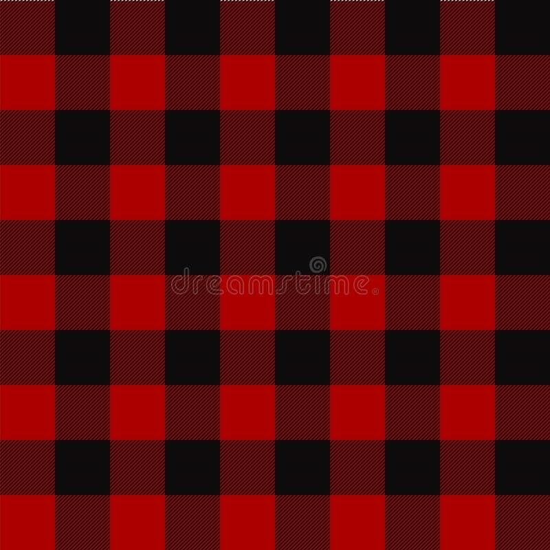 Картина шотландки Lumberjack вектор предпосылки безшовный бесплатная иллюстрация