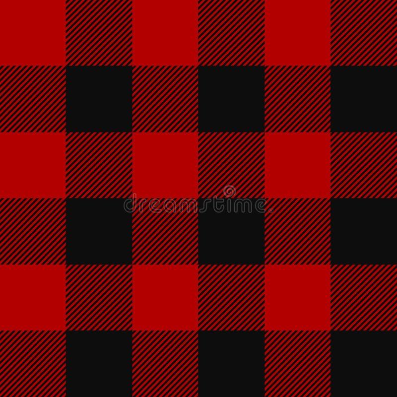 Картина шотландки Lumberjack иллюстрация вектора
