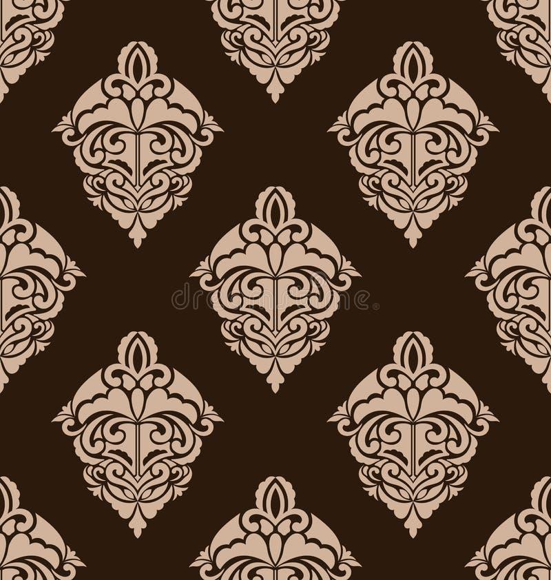Картина штофа безшовная богато украшенная иллюстрация вектора