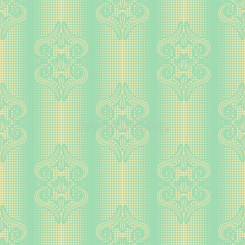 картина штофа безшовная Элегантная винтажная предпосылка текстуры для обоев, упаковочная бумага и страница заполняют иллюстрация штока
