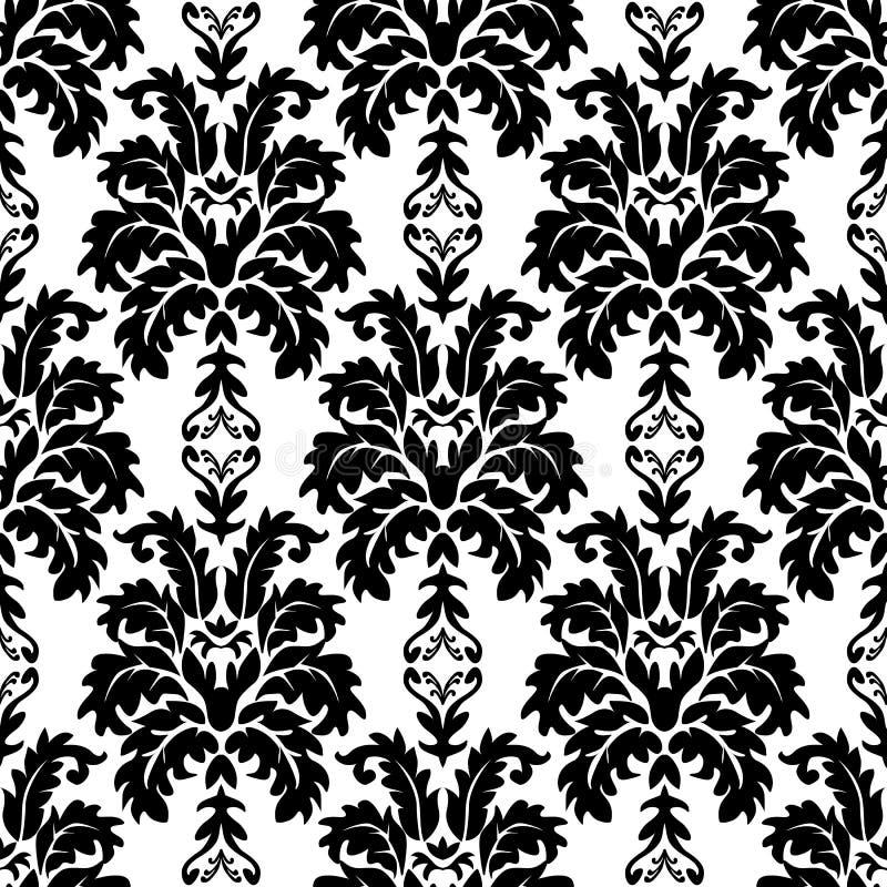 КАРТИНА ШТОФА ВЕКТОРА БЕЗШОВНАЯ Богатый орнамент, старое styl Дамаска бесплатная иллюстрация