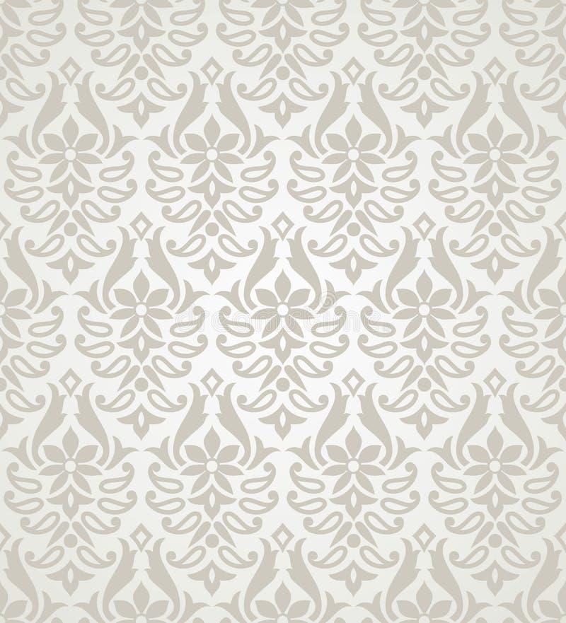 Картина штофа вектора безшовная флористическая бесплатная иллюстрация