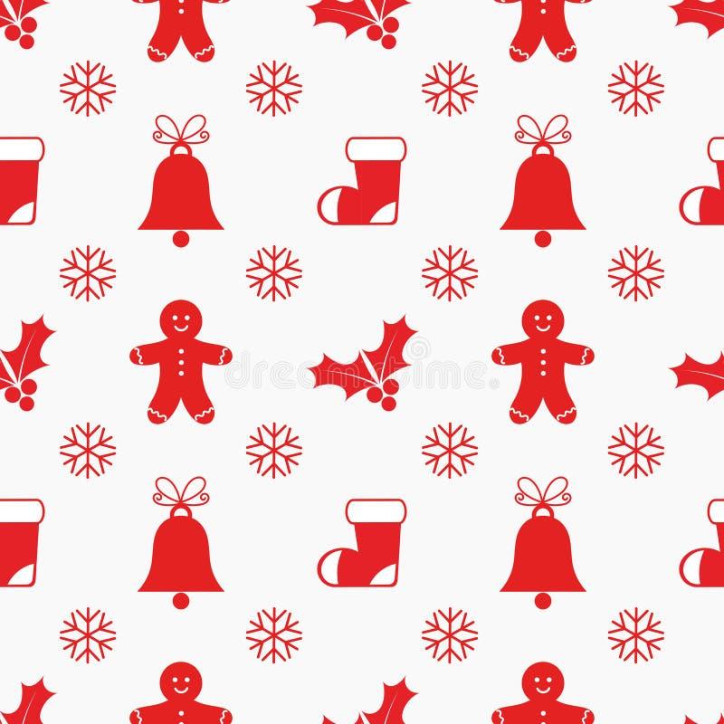 Картина элементов рождества бесплатная иллюстрация