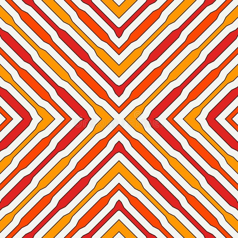 Картина этнического стиля безшовная с геометрическими диаграммами Повторенная предпосылка нашивок орнаментальная абстрактная Плем бесплатная иллюстрация