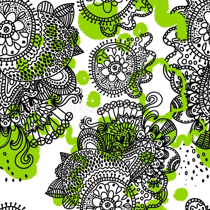 Картина этнического boho безшовная иллюстрация вектора