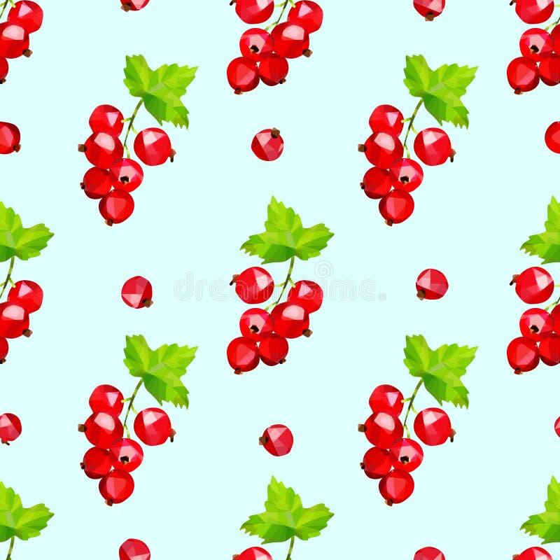 Картина ягод красной смородины безшовная на светлом - голубая предпосылка бесплатная иллюстрация