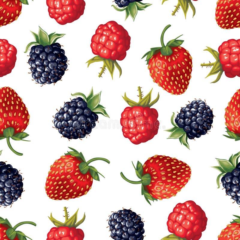 Картина ягоды безшовная бесплатная иллюстрация