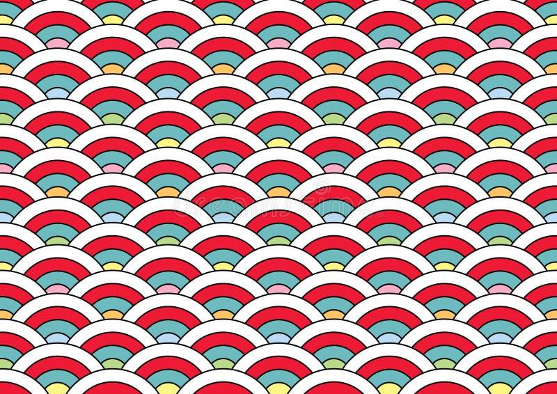Картина японии для клонирования и класть совместно иллюстрация штока