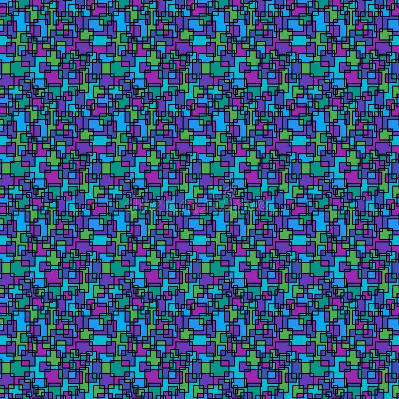 Картина ярких красочных квадратов безшовная бесплатная иллюстрация