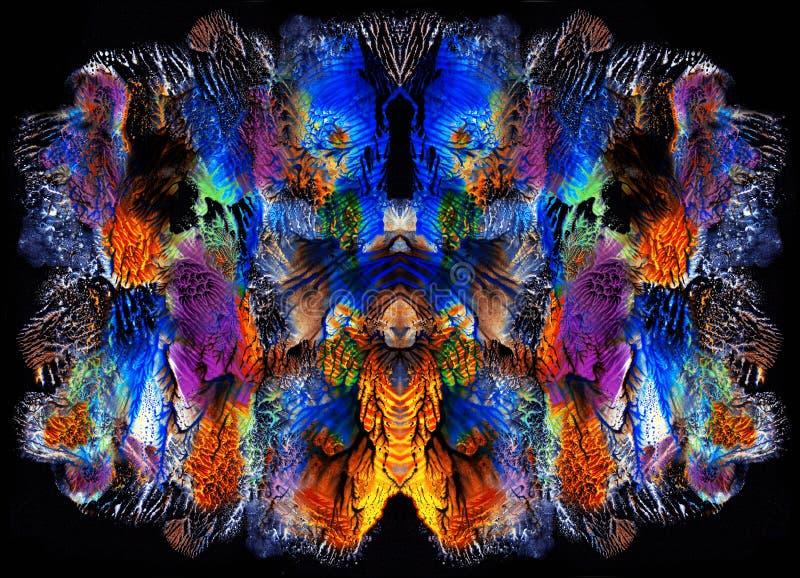 Картина яркого цвета абстрактная в Mono типе стиле стоковые фотографии rf