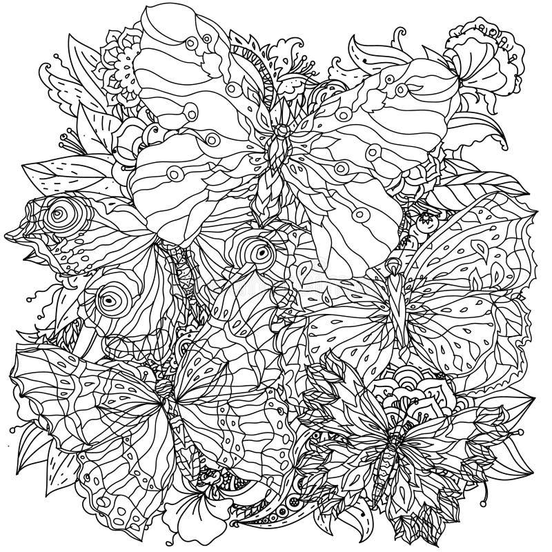 Картина для книжка-раскраски иллюстрация штока