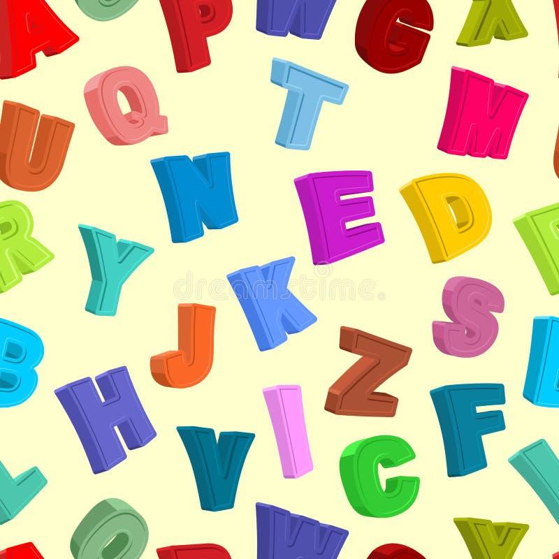 Картина ABC безшовная Покрашенная предпосылка писем Вектор Illust иллюстрация вектора