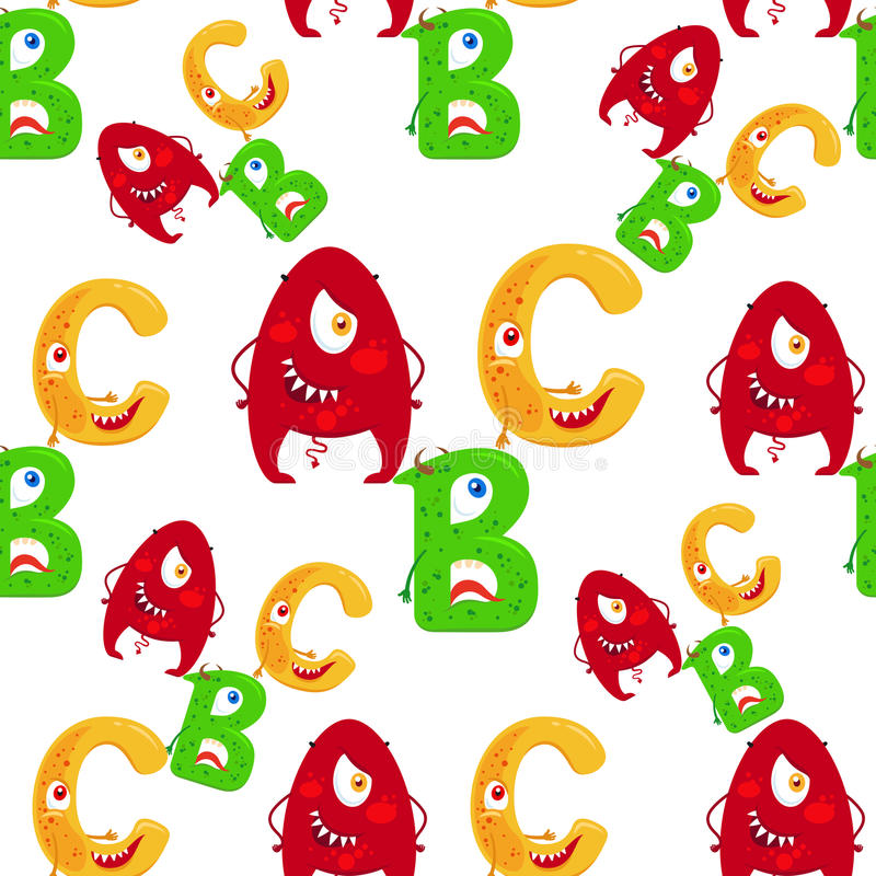 Картина ABC шаржа безшовная бесплатная иллюстрация