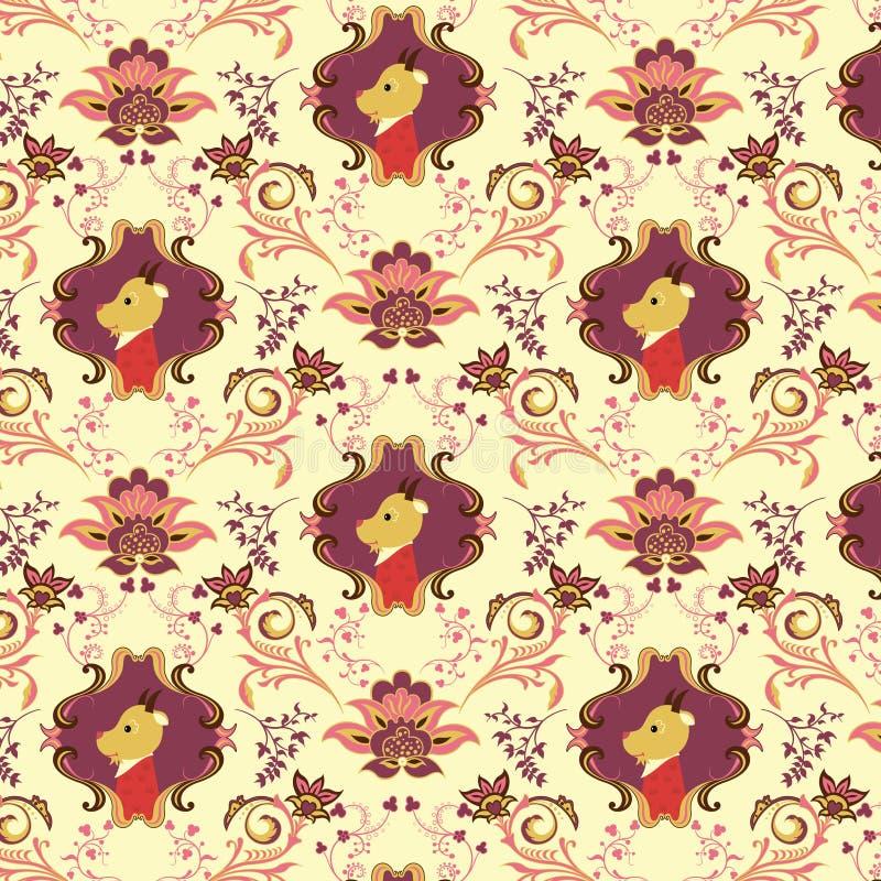 картина b животных флористическая безшовная