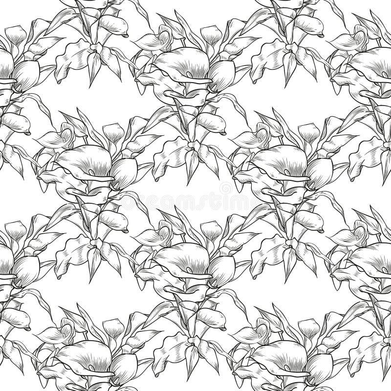 Картина callas вектора безшовная цветков бесплатная иллюстрация