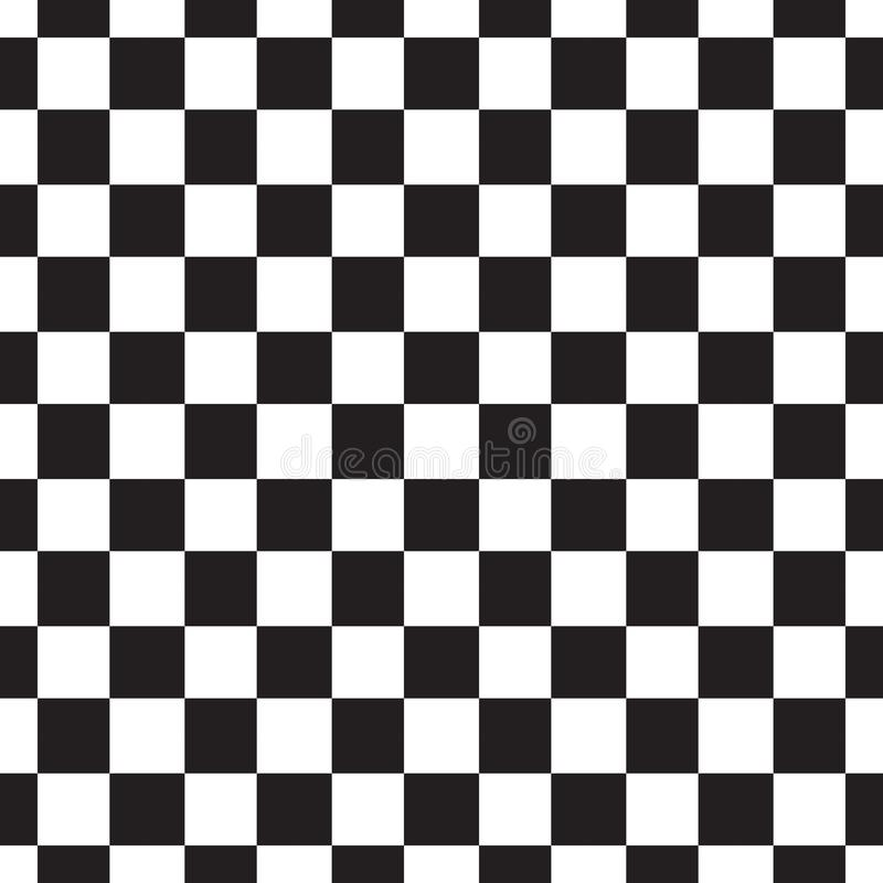 картина checkerboard безшовная Черно-белый конспект, геометрическая бесконечная предпосылка Квадратная повторяя текстура самомодн бесплатная иллюстрация