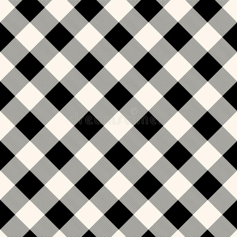 Картина Checkered ткани холстинки безшовная в голубом сером цвете и белизне, векторе иллюстрация вектора