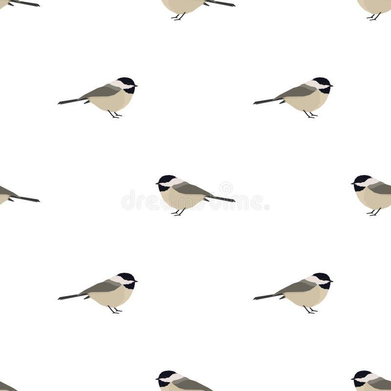 Картина Chickadee иллюстрации вектора безшовная бесплатная иллюстрация