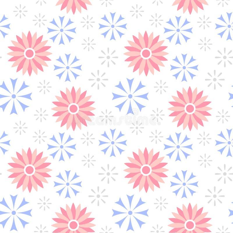 Картина cornflower цветка вектора безшовная бесплатная иллюстрация