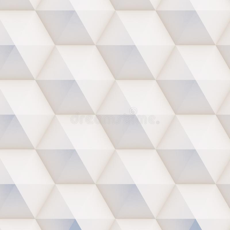 картина 3D сделанная белых и бежевых геометрических форм иллюстрация вектора