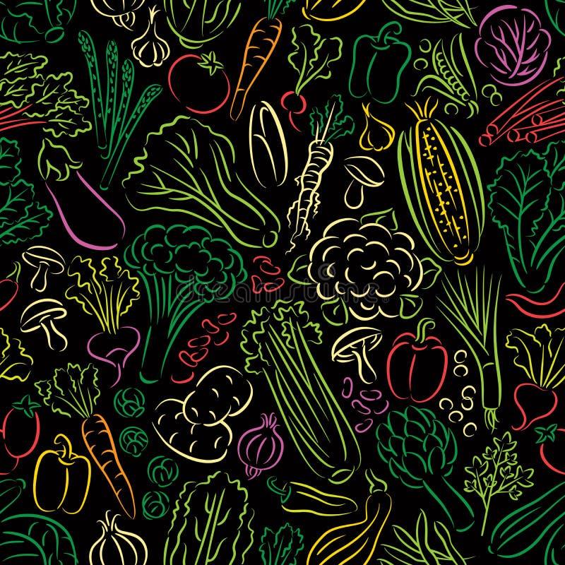 Картина Doodle овощей бесплатная иллюстрация