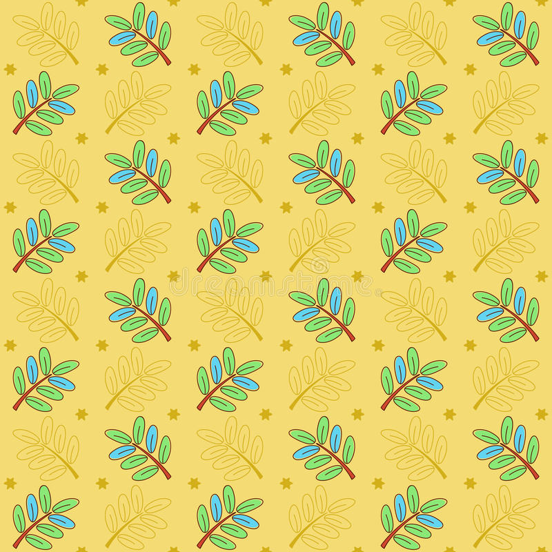 Картина doodle Sprigs иллюстрация штока
