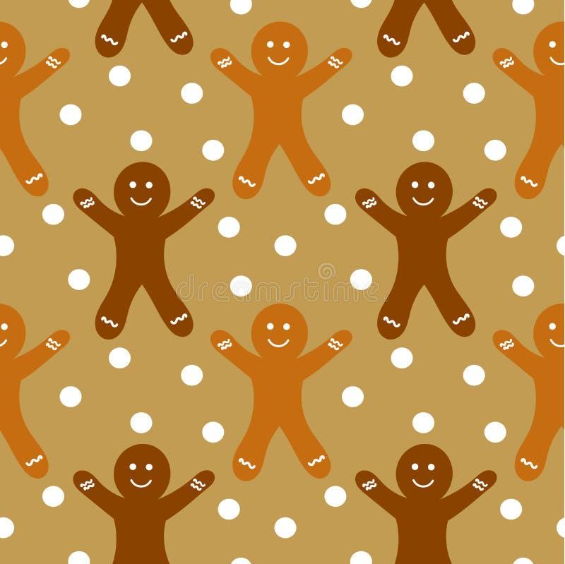 Картина Gingerbread безшовная бесплатная иллюстрация