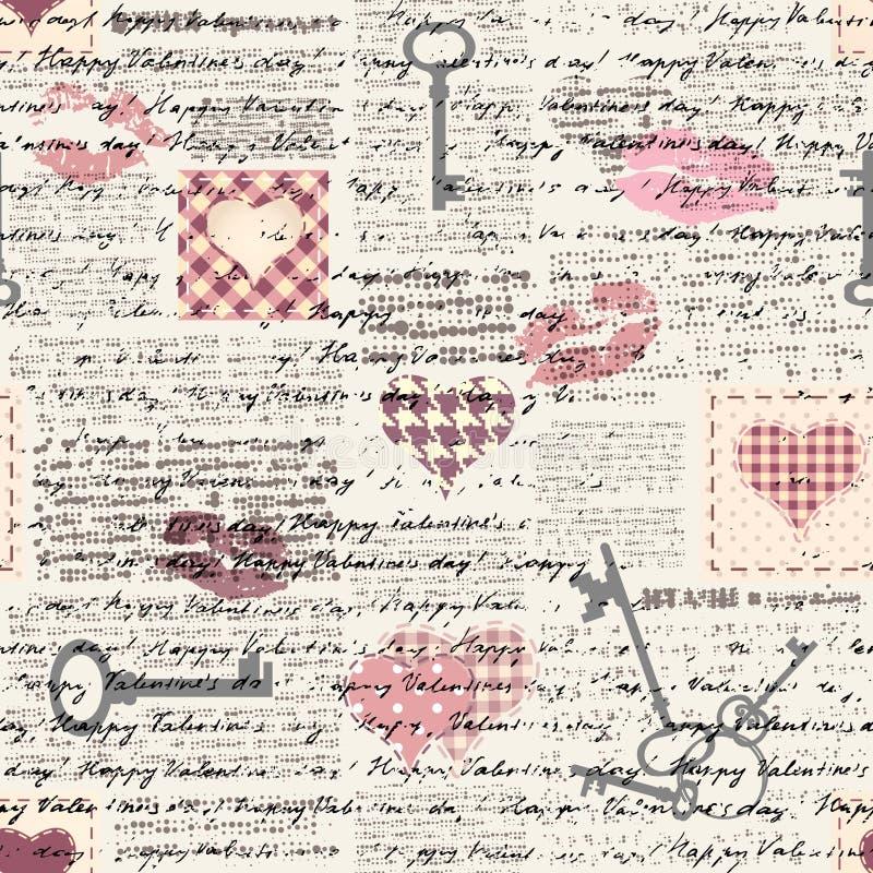 Картина grunge валентинок иллюстрация штока