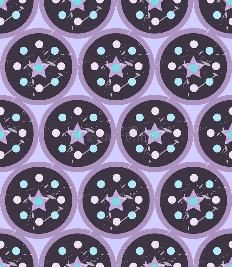 Картина Grunge красочная геометрическая безшовная иллюстрация вектора