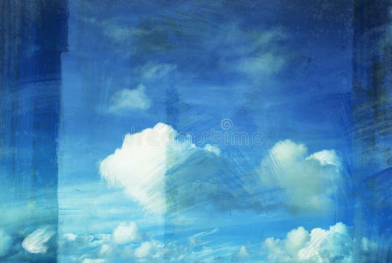 картина grunge облака холстины старая бесплатная иллюстрация