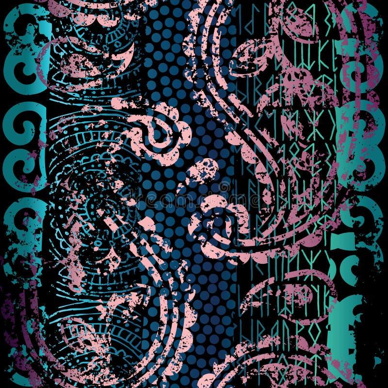 Картина Grunge этническая бесплатная иллюстрация