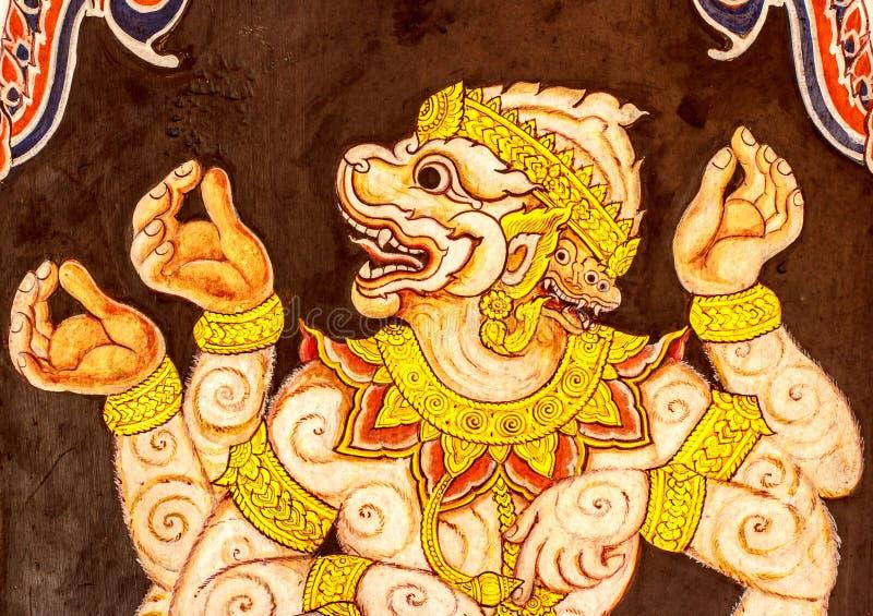 Download Картина Hanuman на стене стоковое изображение. изображение насчитывающей ангстрома - 37930287