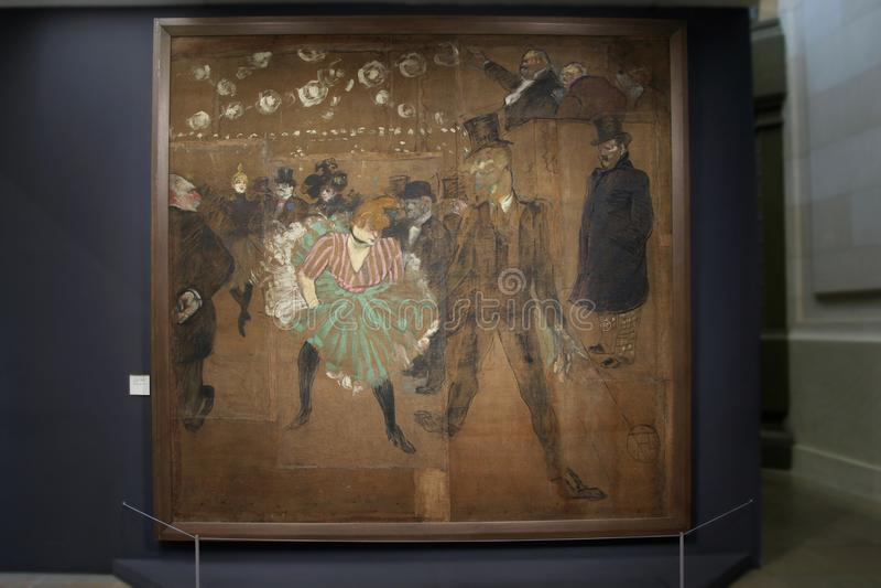 Картина Henri de Тулуза-Lautrec Танцевать в румян Moulin стоковое изображение
