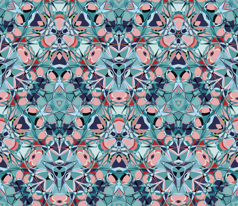 картина kaleidoscope безшовная Составленный форм конспекта цвета иллюстрация штока