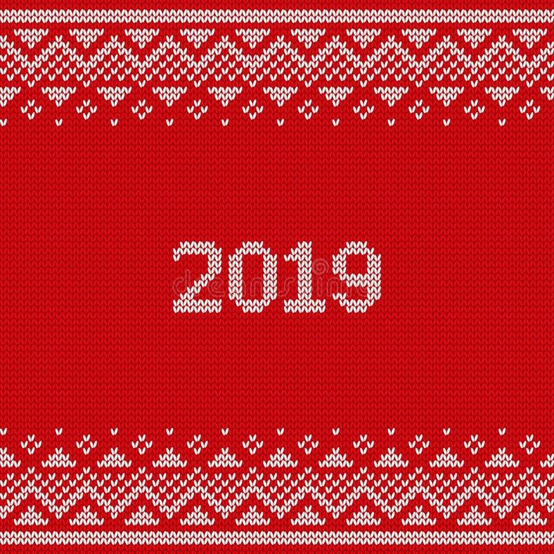 Картина Knit безшовная Связанная текстура 2019 рождества Вектор il бесплатная иллюстрация