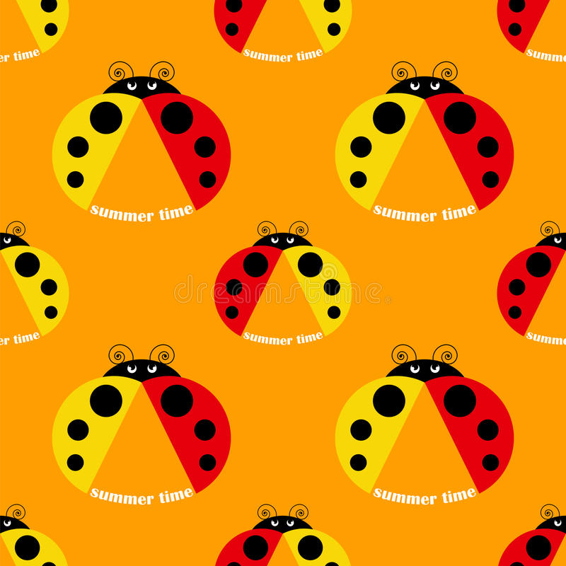 картина ladybug безшовная иллюстрация штока