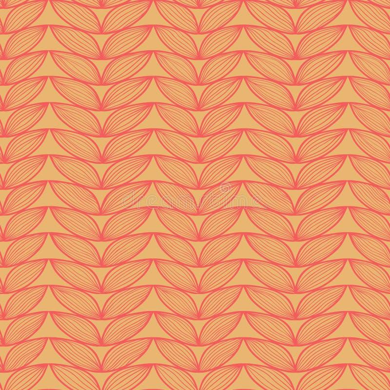 Картина linen doodle Knit безшовная иллюстрация вектора