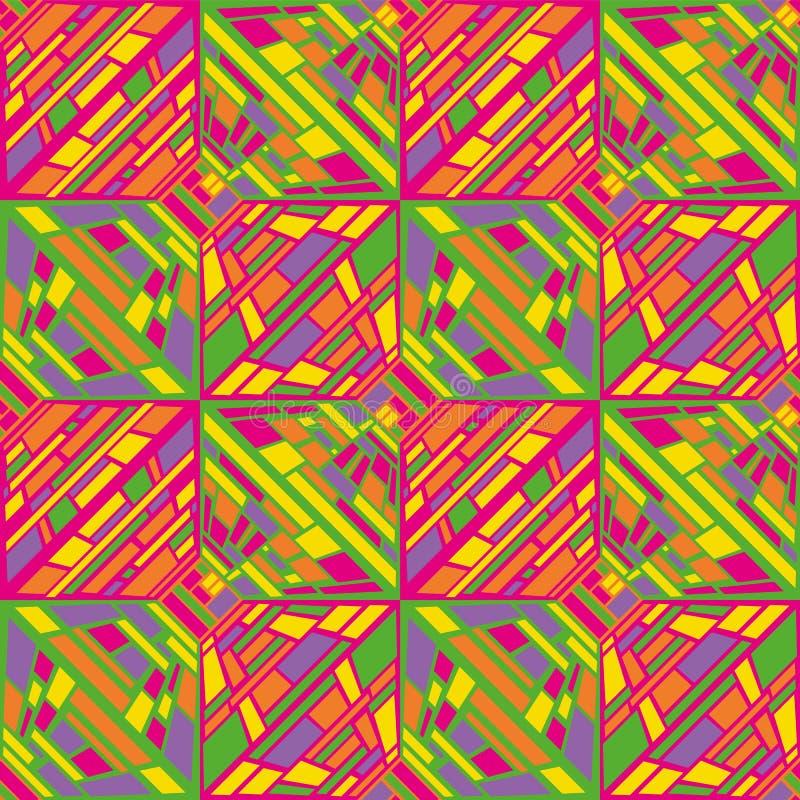 Картина op искусства абстрактного вектора безшовная иллюстрация штока