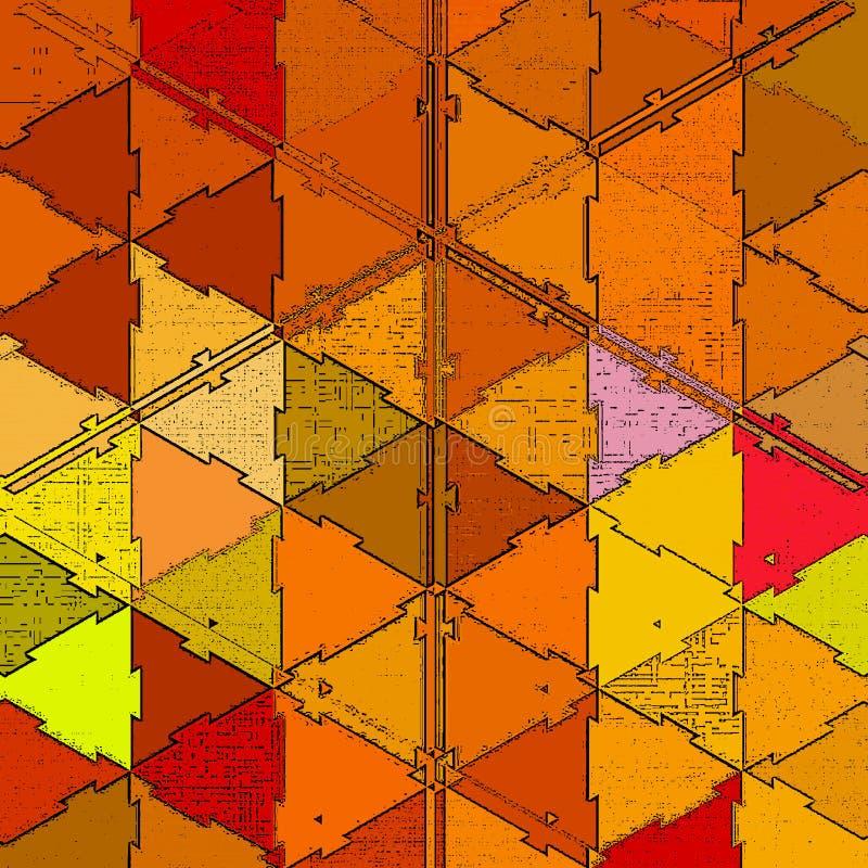 Картина Origami оранжевая полигональная для дизайна крышки в стиле осени Предпосылка современного цвета абстрактная с влиянием за иллюстрация вектора