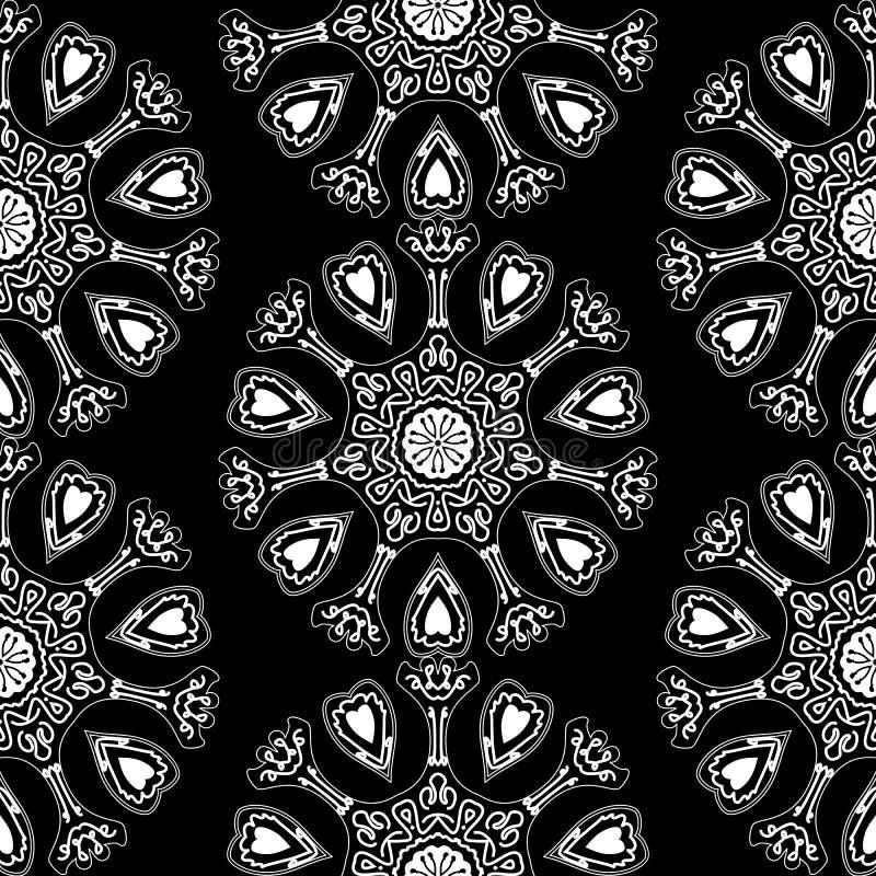 Картина Ornamental шнурка звезды вектора безшовная круглая иллюстрация вектора