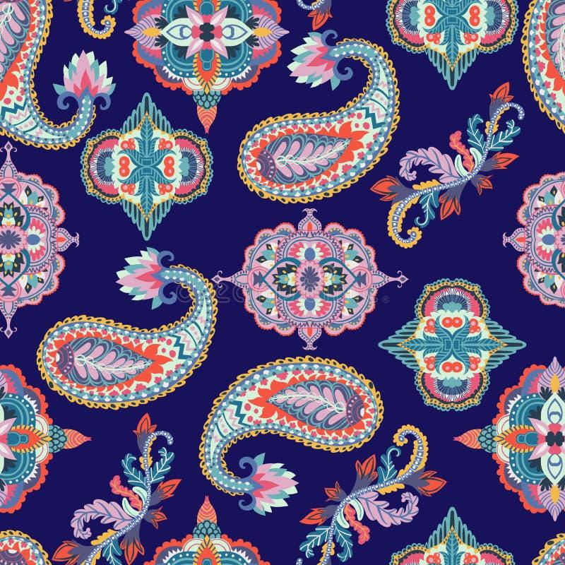 картина paisley безшовная Цветастый флористический орнамент конструкция oriental иллюстрация штока