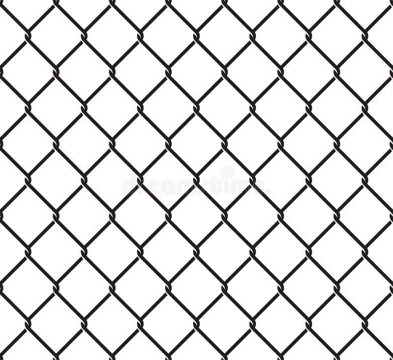 Картина Rabitz безшовная Орнамент плетения сетки Предпосылка загородки сетки иллюстрация вектора