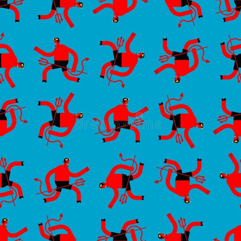 Картина Satan безшовная Предпосылка дьявола Текстура демона Орнамент Lucifer бесплатная иллюстрация