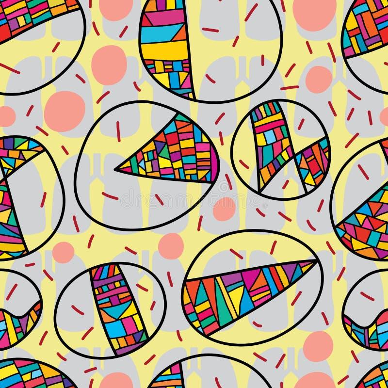 Картина TB круга больная красочная безшовная бесплатная иллюстрация