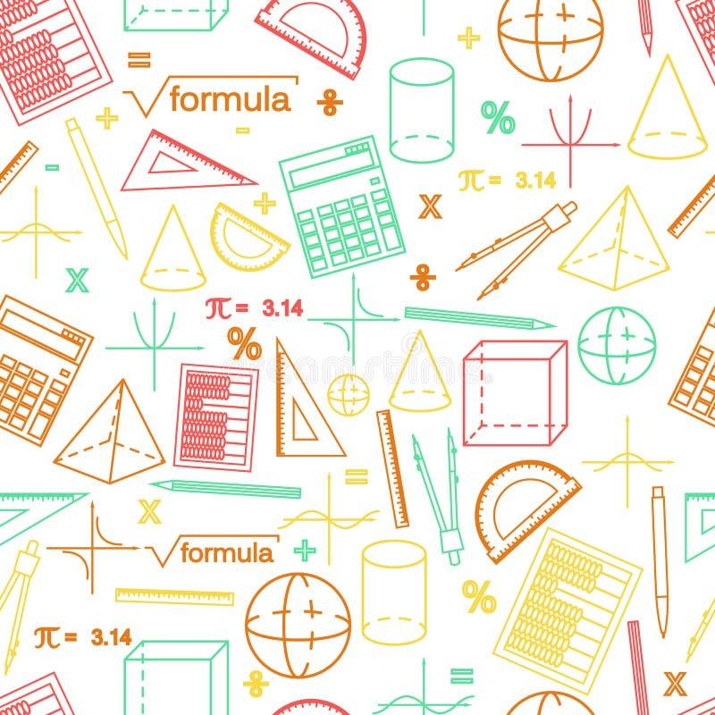 Картина whight математики безшовная линейный стиль иллюстрация штока