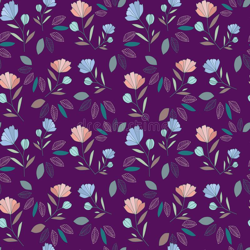 Картина Wildflowers Букет акварели цветков иллюстрация штока