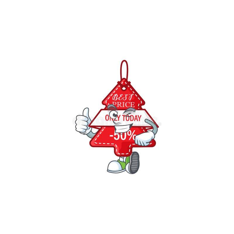 Картинка christmas лучший ценник делает Thumbs жест вверх иллюстрация вектора