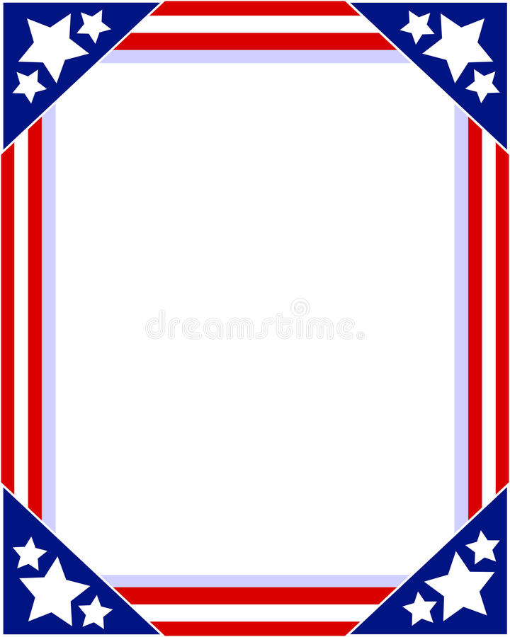 Картинная рамка американского флага патриотическая иллюстрация штока