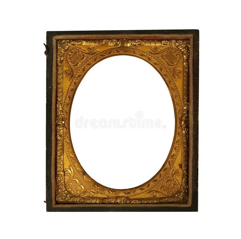Картинная рамка винтажного ornat металлическая стоковое фото rf